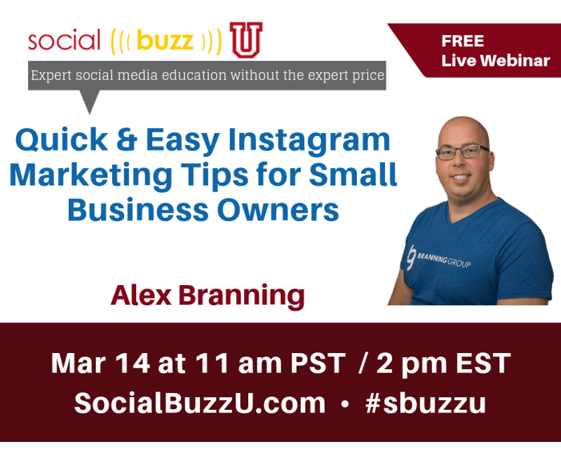 ad banner - quick & easy instagram tips for small business