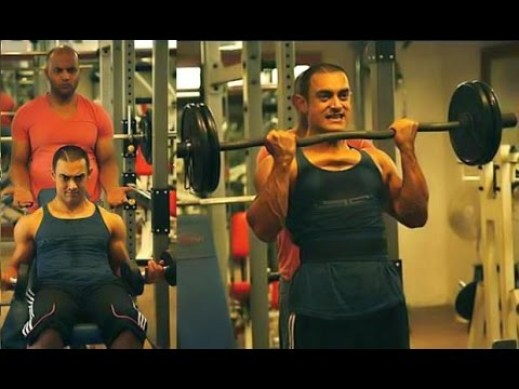 Transformation of Aamir Khan from fat to fit in Dangal Teaser
