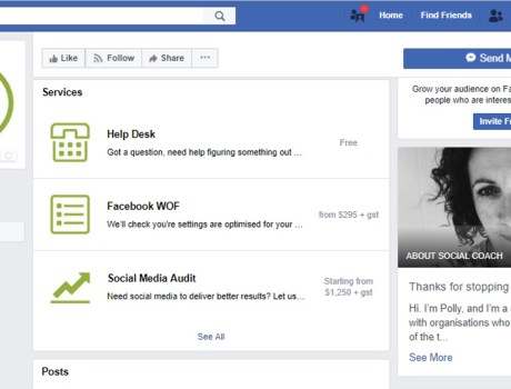 What to do if Facebook want to change your page template