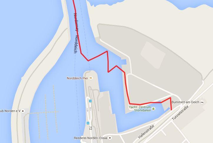 Hafenmanöver unter Segeln, Norddeich