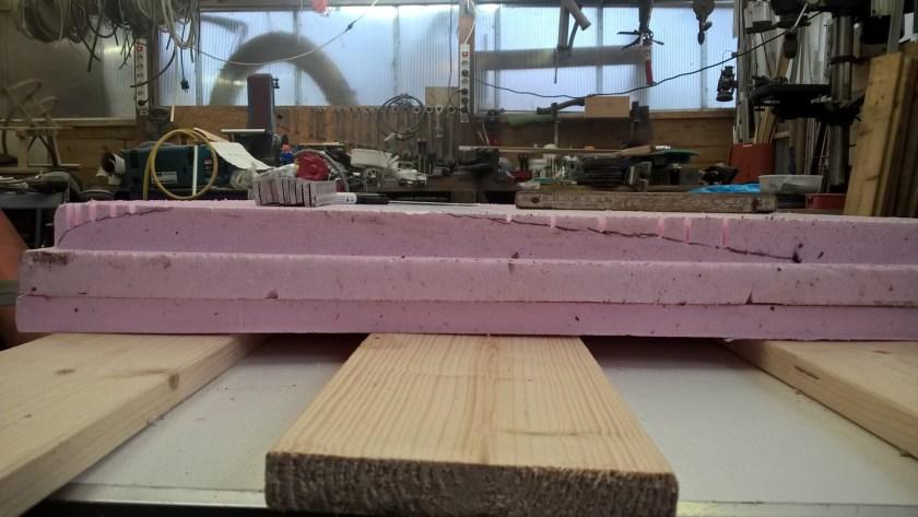 Querschnitt der im Bau befindlichen Halbform für das Kielschwert