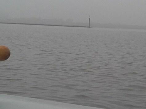 Gefahrentonne westlich des Norddeicher Yachtclubs zur Einfahrt in das Norddeicher Wattfahrwasser