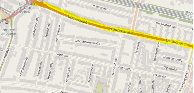 Bismarckstrasse in Bremen