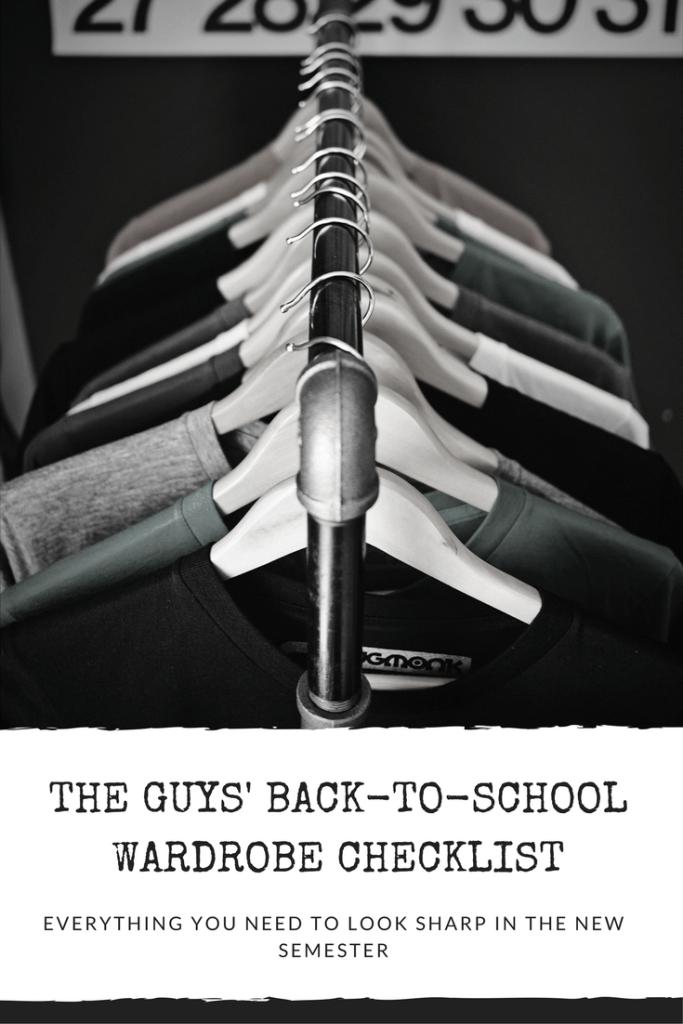 back to school for guys, fall fashion for boys, high school fashion, dad's guide to back to school. checklist, easy checklist, shopping, canada, mark's
