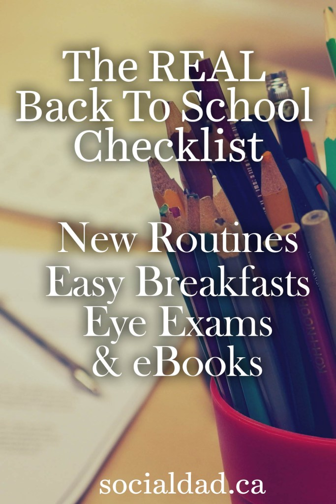 Back to school checklist - routine calendars, easy breakfast recipes, and ebooks