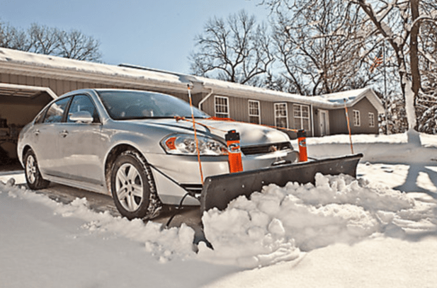 snow plow kit for your car, mr plow, plow your own snow