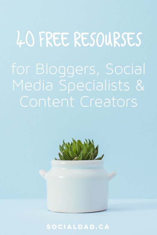 40 Free Resources for Bloggers and content creators. Free music, free photos, free apps and more