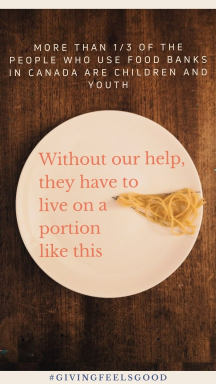 food poverty in canada, giving feels good, pasta, catelli pasta, greater vancouver food banks