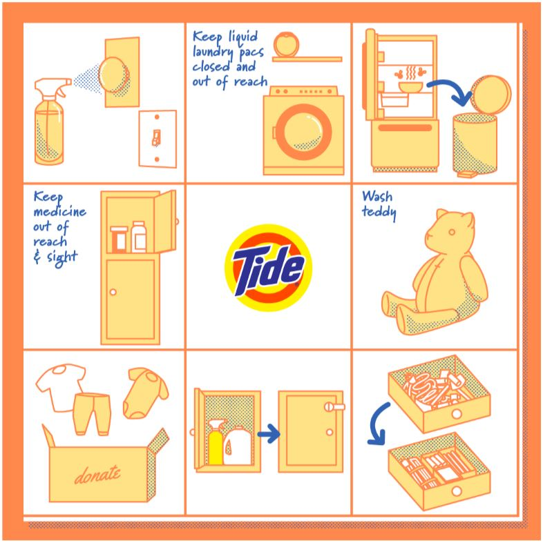Tide Home Bingo, Tidy Home Safe Home, Bingo board, Let's Play Tidy Home Bingo - How many of these do you do?