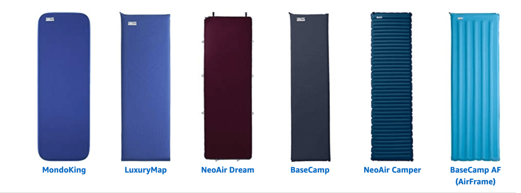 thermarest, therma rest, therm-a-rest hiking mats, camping beds,