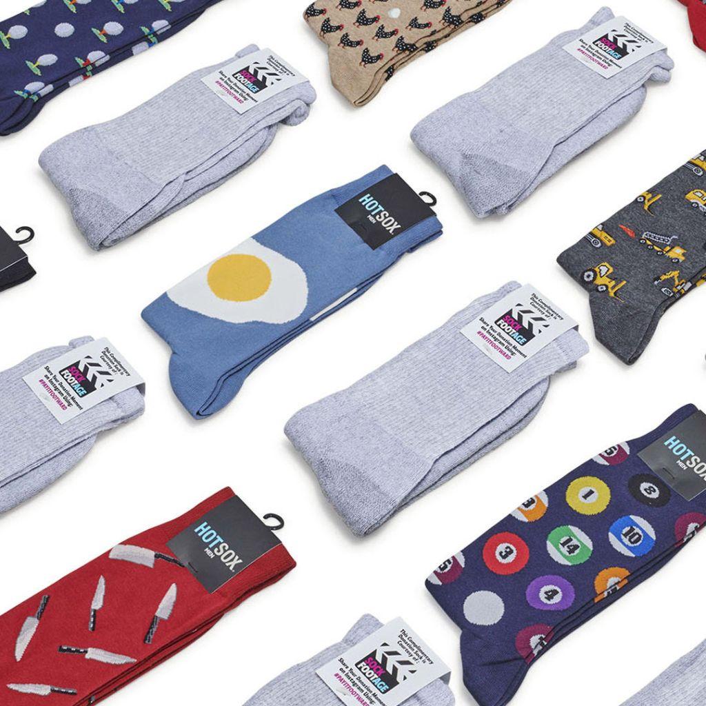 sock footage, funny socks,