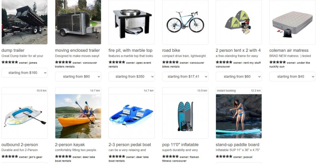 ruckify, rent tents, rent power tools in vancouver, rent a paddleboard, rent books, rent a firepit, rent tools, rent a trailer, vancouver, north vancouver, earn money from your stuff,