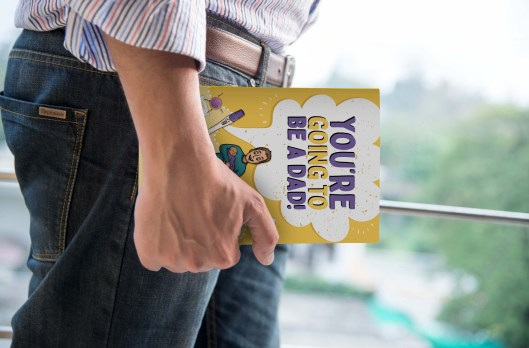 You're going to be a dad, dad book, diy dad book, new dad book, gifts for new dads, gifts for new fathers, advice for new dads, IVF for men, guide books for men, male parents, how do I get my kid to...?,