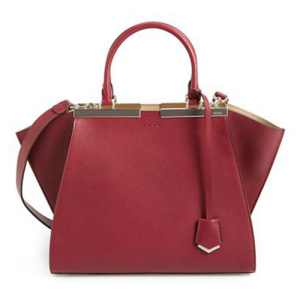 Fendi Red Calf Leather '2Jours' Tote Bag