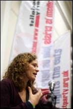 Socialism 2012: Sunday Rally: Hannah Sell, Socialist Party , photo Senan