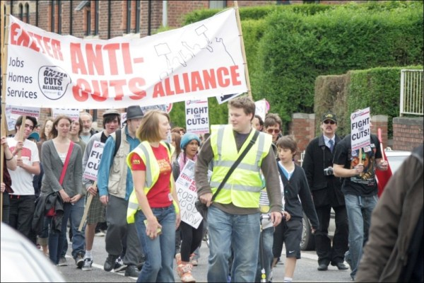 Socialist Party :: Anti-cuts May Day in Exeter