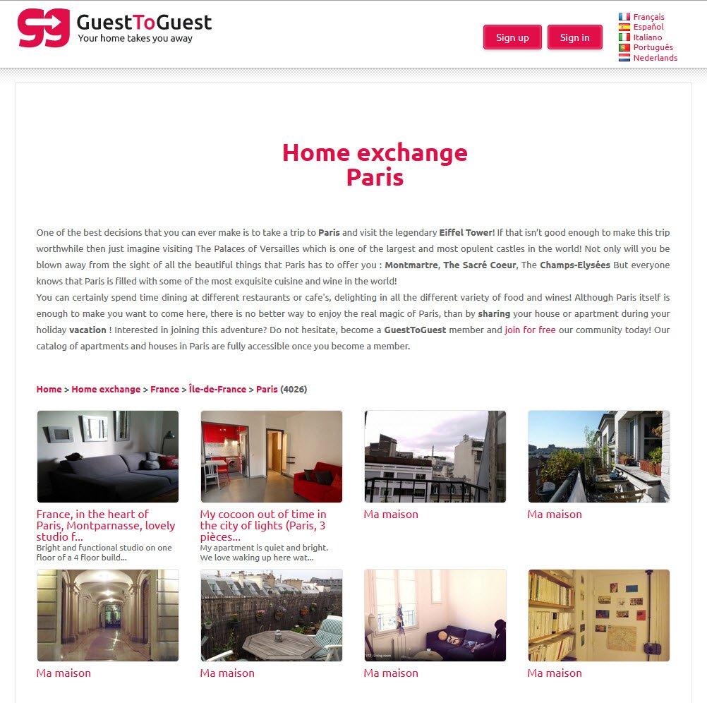 Guesttoguest scambiare casa in modo social for Prendere in prestito denaro per costruire una casa