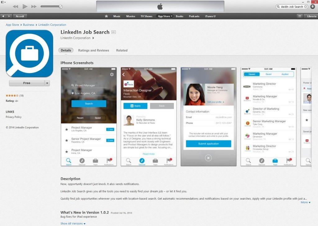 linkedin job search arriva l app per trovare lavoro linkedin job search 3 clicchiamo sul pulsante come se volessimo scaricarla a questo punto si apriragrave la finestra per eseguire l accesso col proprio
