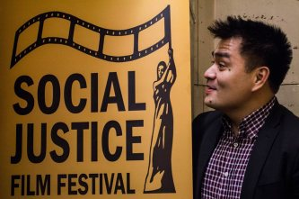 Jose Vargas after the Focus on Immigration event. Photo by Colette-Yasi Naraghi
