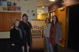 """Killswitch"" Producer Lauren Taubman with festival director Anne Paxton, Communications Director Rhenda Meiser and Assistant Director Laura Brady."