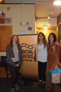"Jo Ardinger and Rosalie Miller of ""Personhood"" with a representative from Legal Voice."