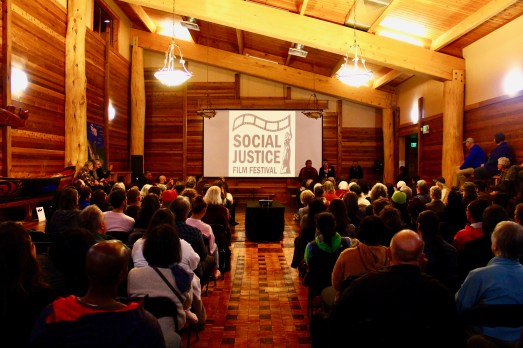 Packed house for Indigenous Futures at the Duwamish Longhouse. (Photo by Daniel Swan).