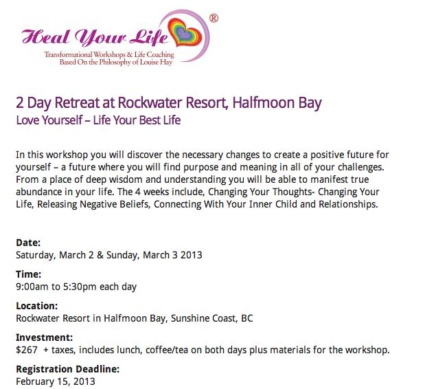 Heal Your Life retreat