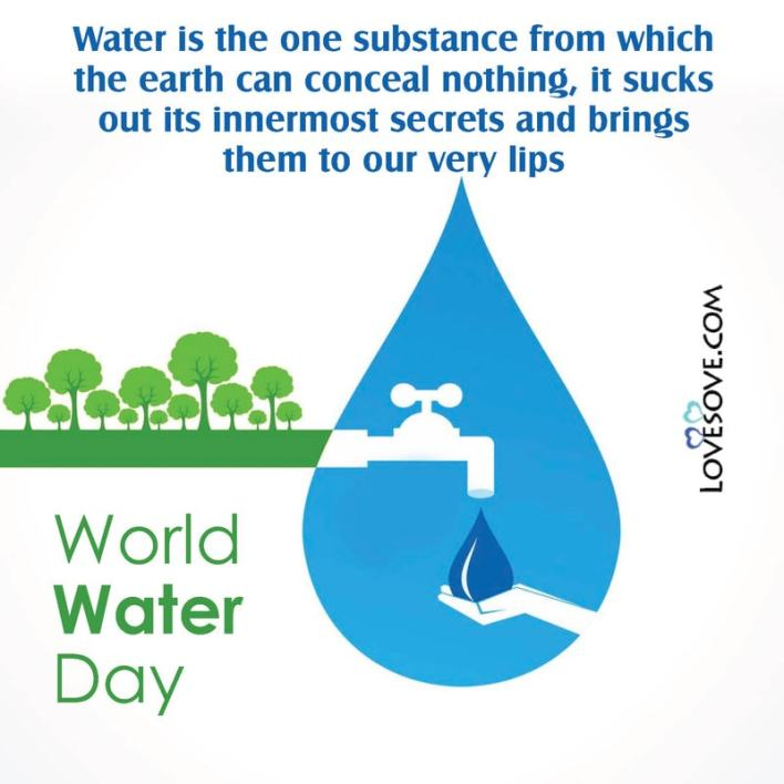 World Water Day Quotes Lovesove - scoailly keeda