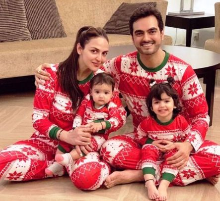 Esha Deol With Her Husband and Daughters