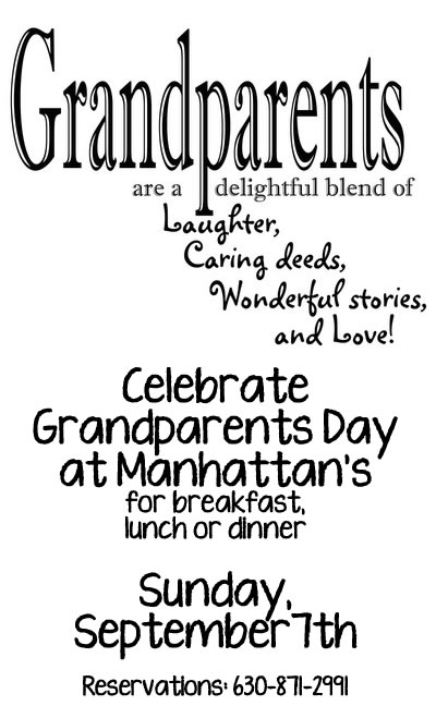 Grandparents Day is Sunday, September 7, 2014! Celebrate