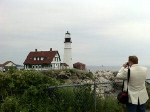 Speaker Bob Collins visits Portland Head Light