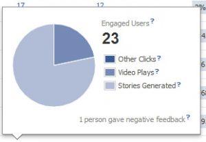 Facebook negative feedback report