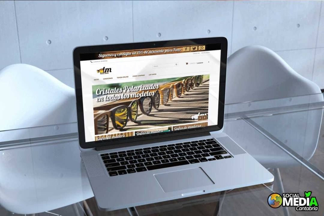 Diseño de tienda online de gafas de madera