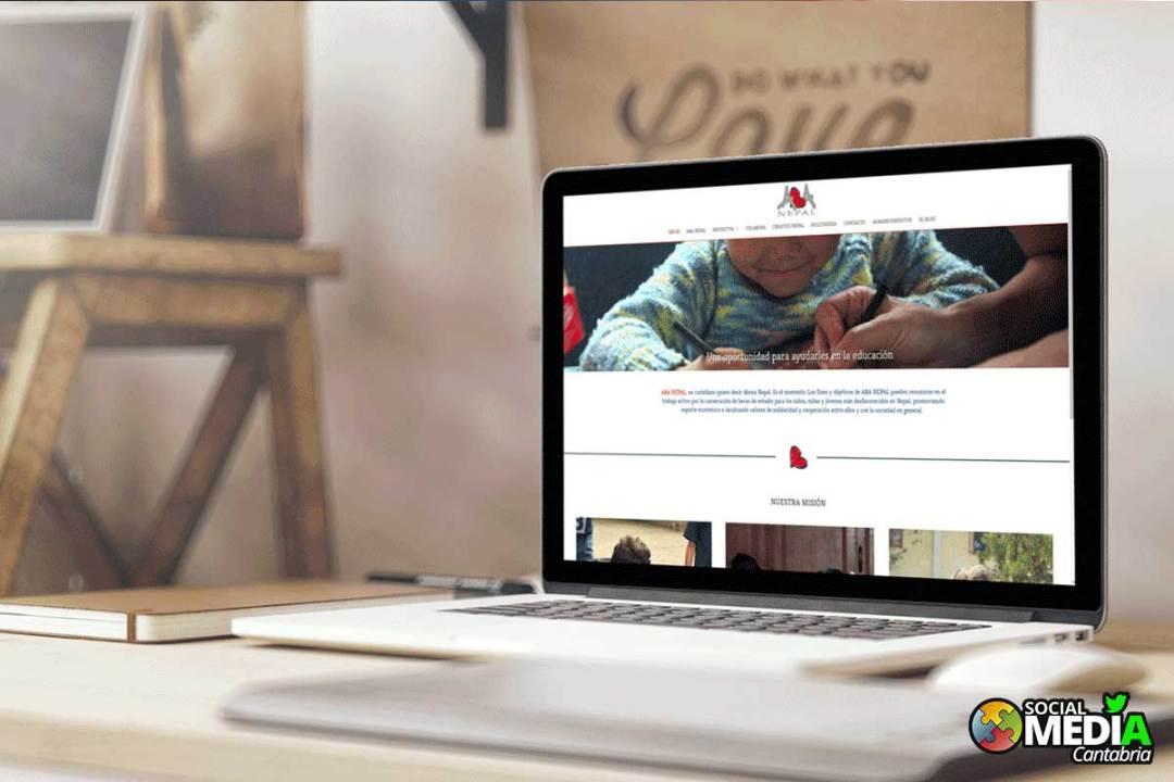 Diseño web responsive en Cantabria - ABA nepal