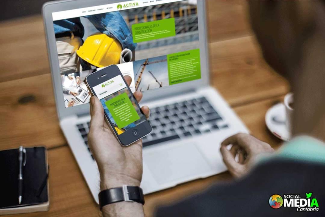 Diseño web en Cantabria Activa Construcciones