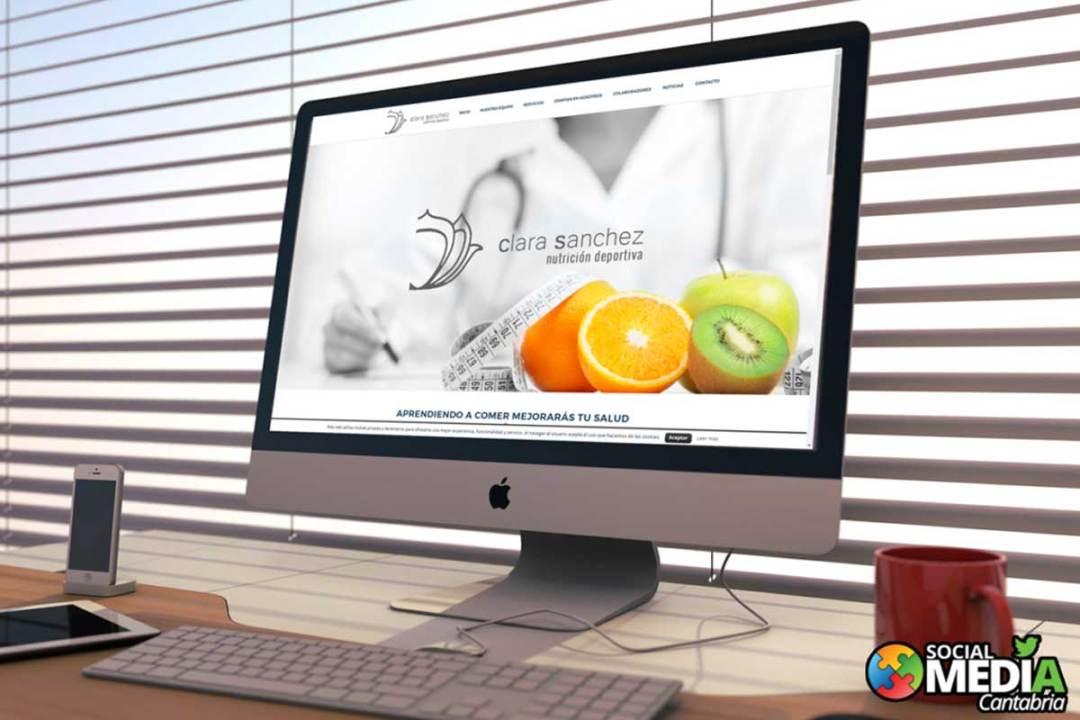 diseño web en cantabria clara sanchez