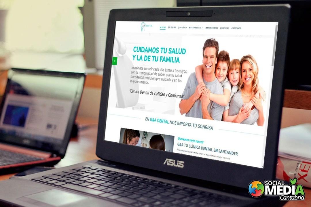 diseño web en cantabria g&a dental