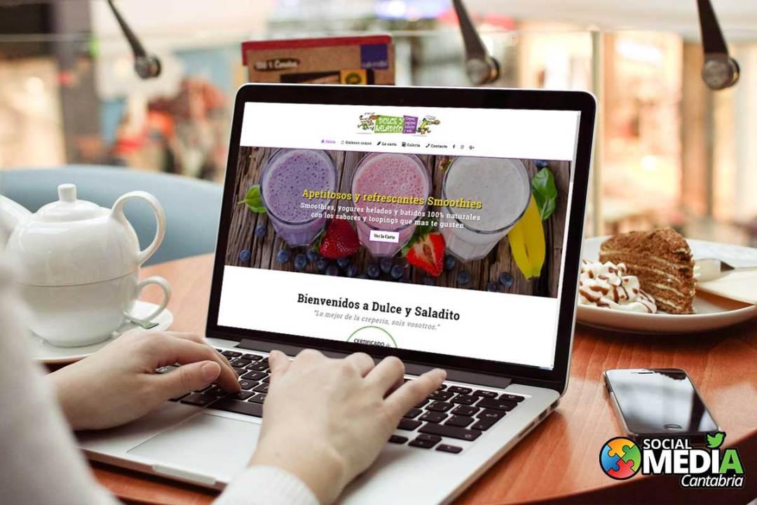 diseño web en Cantabria dulce y saladito