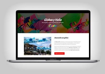 Web Globos y Helio
