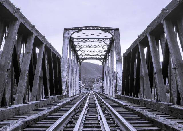 Stockfoto spoorbrug