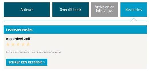 Waarom aanbevelingen op de website? Voorbeeld Lezersrecensies