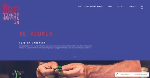 Website met een creatieve stijl