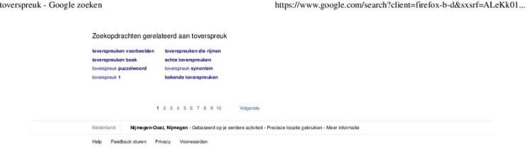 Suggesties van Google