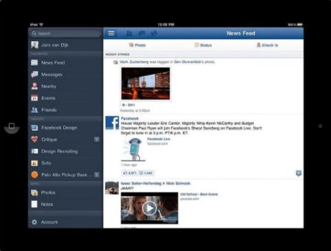 Facebook für iPad