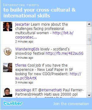 an example of a twitter widget