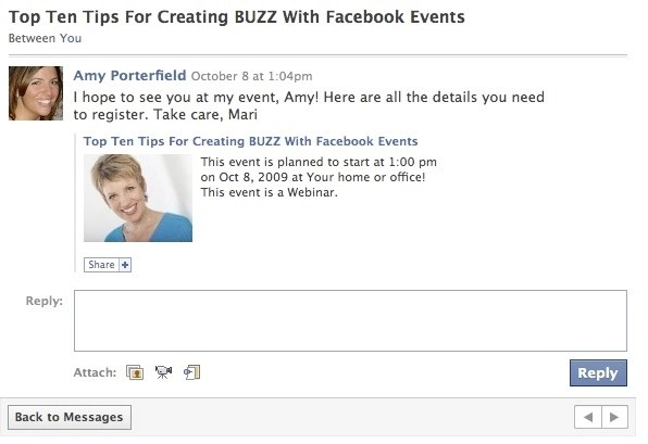 creating buzz with facebook events