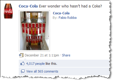 coca-cola on facebook