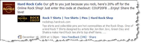 Hard Rock Cafe auf Facebook