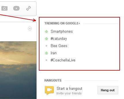 Trend auf Google +