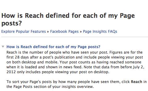 Facebook erreichen
